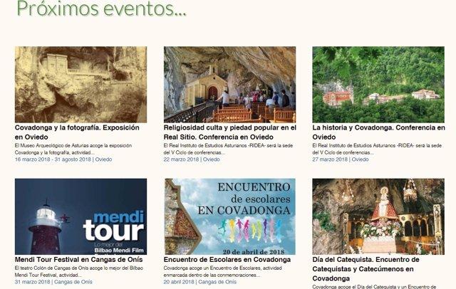 Web del Principado sobre los centenarios de Covadonga