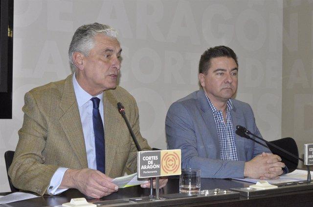 Antonio Suárez y Miguel Ángel Lafuente, diputados del PP