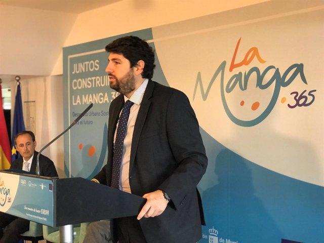 Fernando López Miras presenta el proyecto 'La Manga 365'