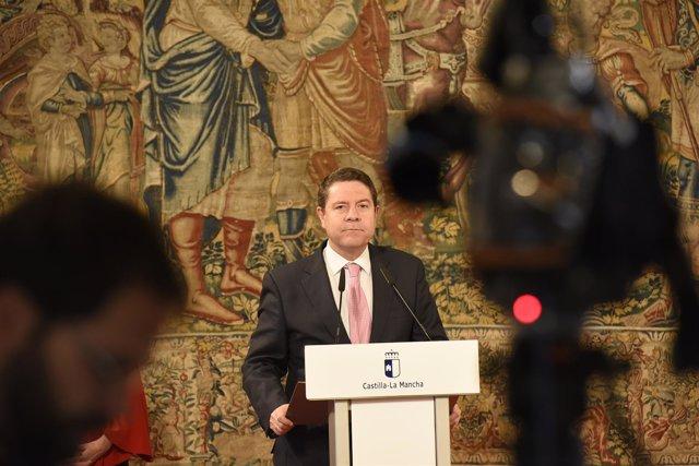 Emiliano García-Page en rueda de prensa