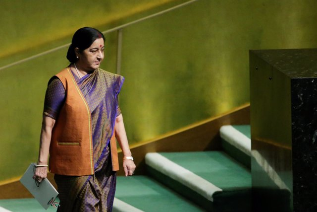Ministra de Asuntos Exteriores india Sushma Swaraj