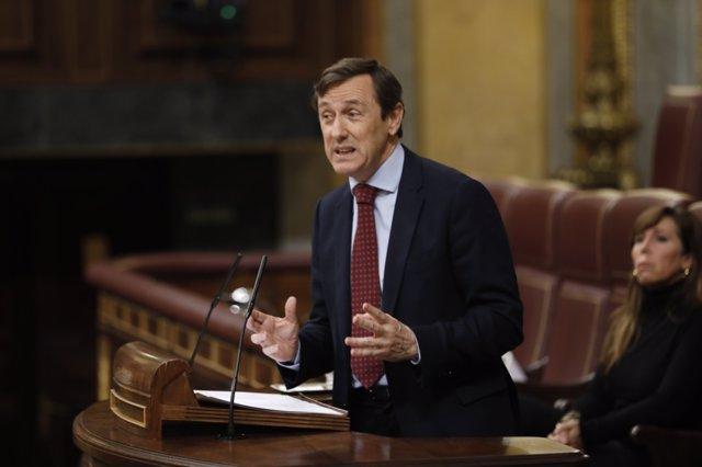 Rafael Hernando interviene en el pleno del Congreso sobre las pensiones