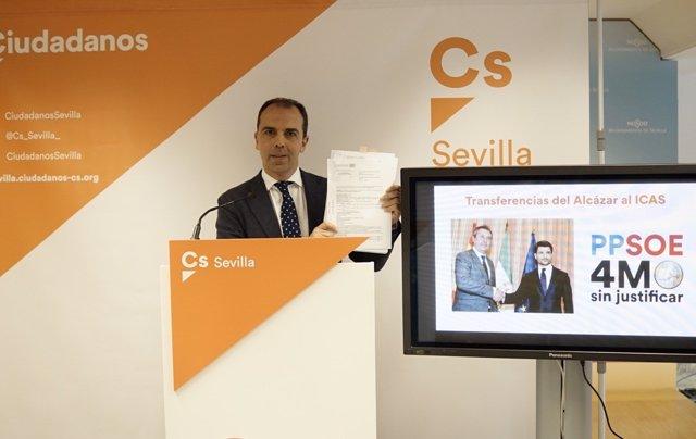 El portavoz de Cs en el Ayuntamiento de Sevilla, Javier Millán