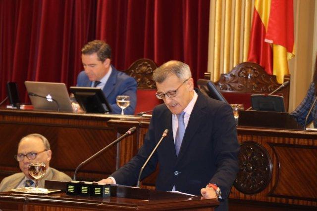 Santiago Tadeo (PP) defiende la moción sobre siniestralidad laboral