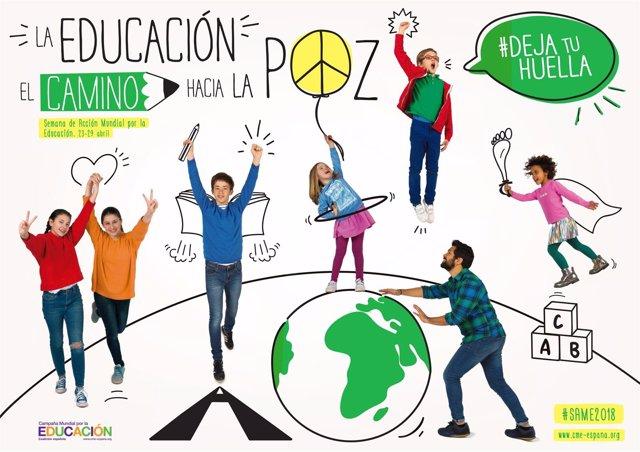 Resultado de imagen de Semana de acción mundial por la educación 2018 deja huella paz