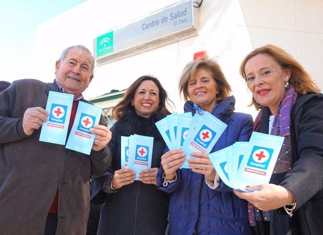 Navarro, Oña y Romero en un reparto por un hospital en la zona Este
