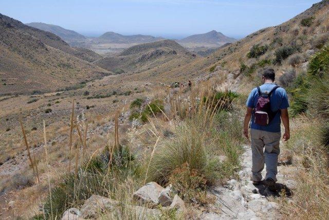 Uno de los tramos de la ruta por el Cerro del Cinto