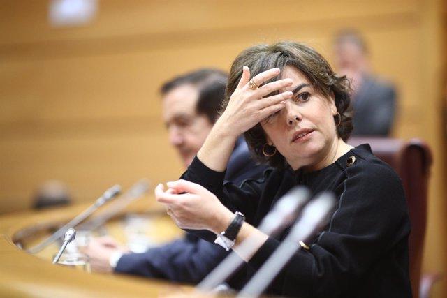 Santamaría en la Comisión del artículo 155 en el Senado