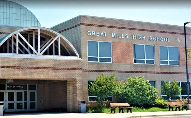 Fachada del Insitituto Great Mills, en Maryland