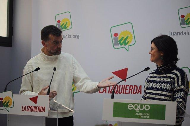 Antonio Maíllo y Carmen Molina, en rueda de prensa