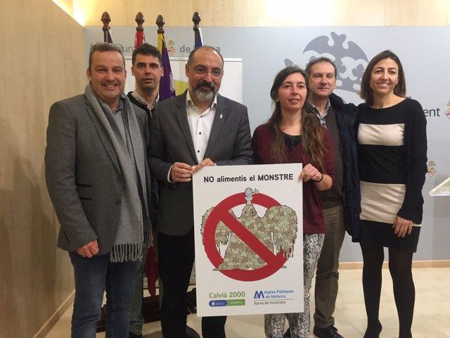 Presentación de campaña 'No alimentes al monstruo' sobre el vertido de toallitas