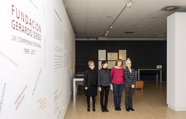 Presentación de la exposición de la Fundación Gerardo Diego en la Biblioteca