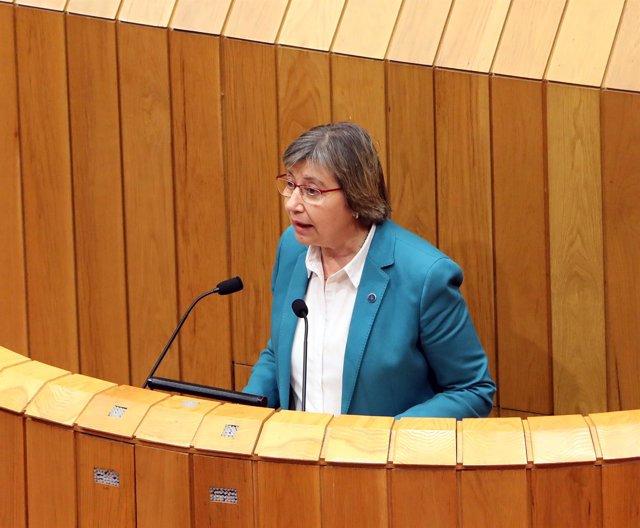 La conselleira do Mar en el Parlamento de Galicia