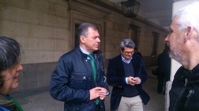 José Luis Sanz a la salida del juzgado