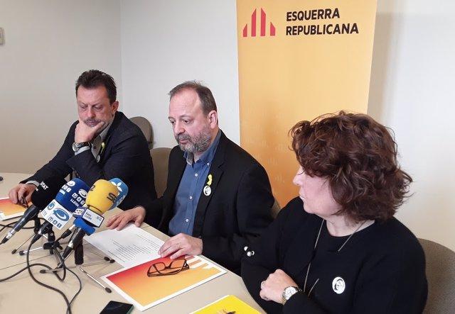 Josep Maria Baiget, Carles Vega y Nùria Marín