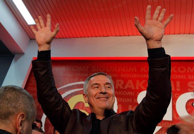 El ex primer ministro y ex presidente de Montenegro Milo Djukanovic