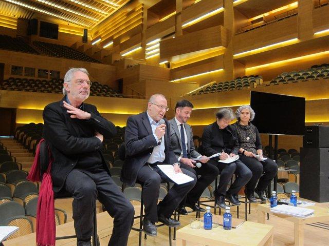 FOTO: Autoridades de la OBC y del Auditori en la presentación de la temporada