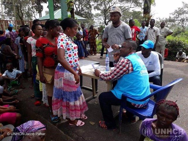 Refugiados cameruneses en Nigeria