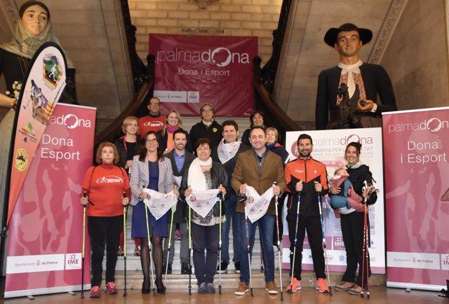 Presentación de la Marcha por la Igualdad Nordic Walking Ciutat de Palma