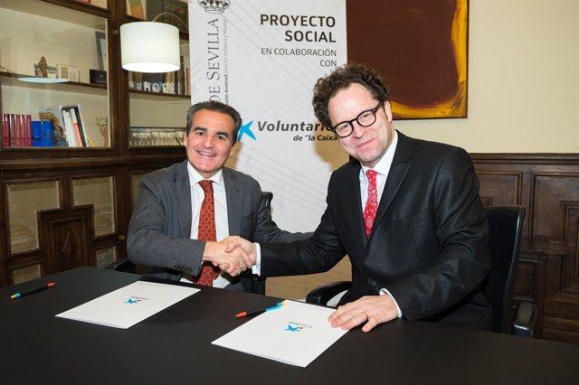 Asociación de Voluntarios de La Caixa y ROSS renuevan convenio de colaboración