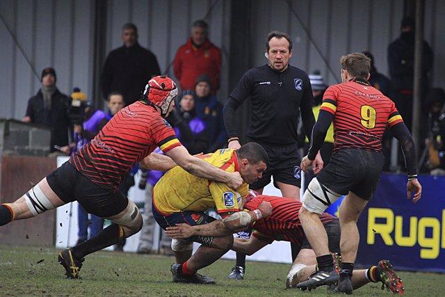 La Federación Española de Rugby reclama a la FER por el España - Belgica