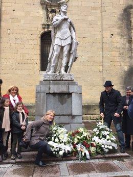 Ofrenda floral a Alfonso II el Casto