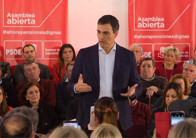 El secretario general del PSOE, Pedro Sánchez, en Córdoba