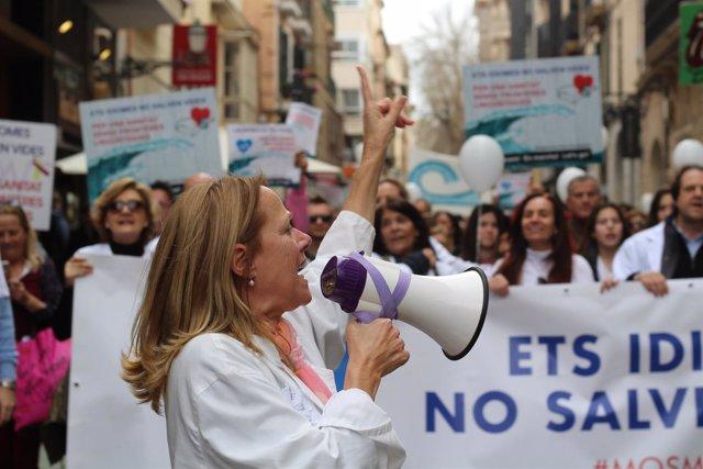 Mnifestación requisito del catalán en sanidad, 2018