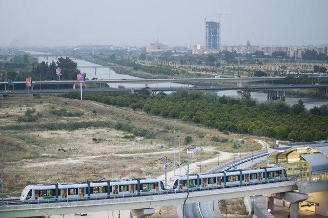 El metro de Sevilla por el área metropolitana
