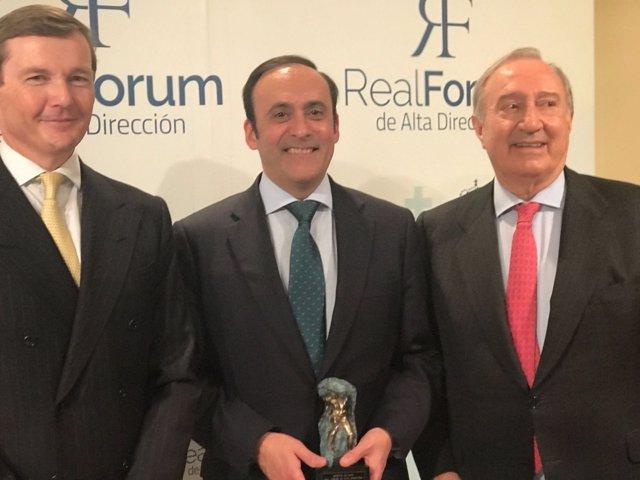 El presidente del Grupo Cofares premiado con el Máster de Oro del Real Forum