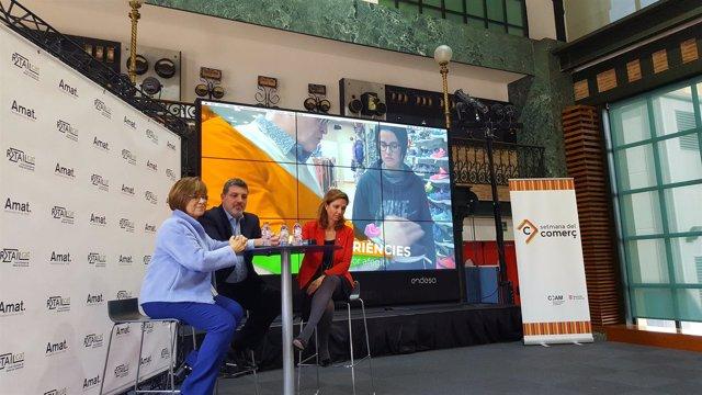 Joana Amat (Amat Immobiliaris), Joan Carles Calbet (Retailcat) y Muntsa Vilalta