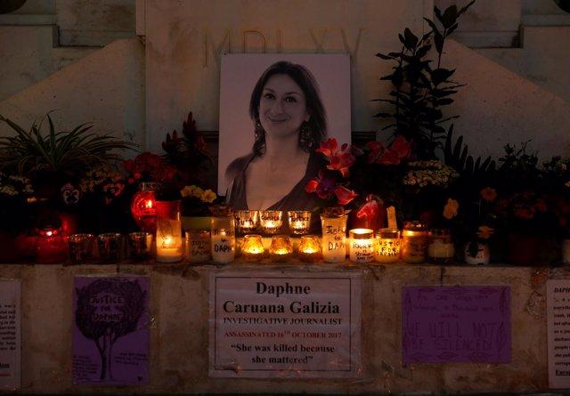 Foto de archivo de una vigilia por la periodista Daphne Caruana Galizia.