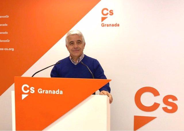 El parlamentario andaluz de Ciudadanos José Antonio Funes