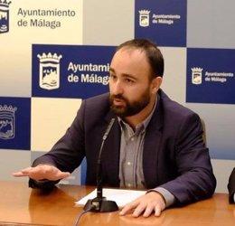Mario Cortes, edil del PP en Málaga, en rueda de prensa