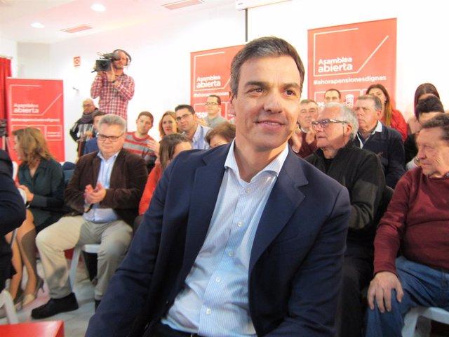 Pedro Sánchez en la Asamblea Abierta del PSOE en Córdoba