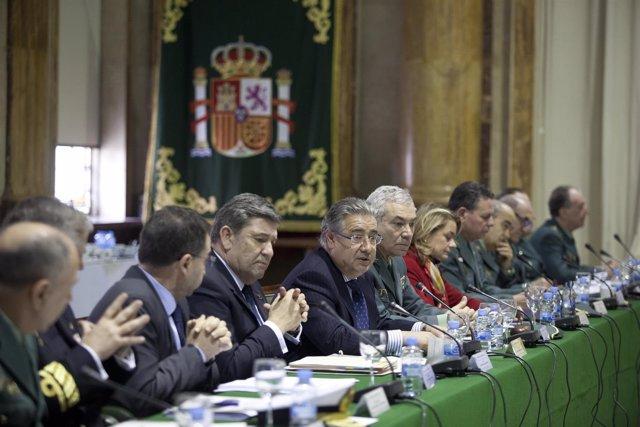 Juan Ignacio Zoido en el pleno del Consejo de la Guardia Civil