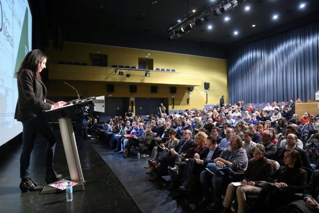 Acto contra la Ley del Suelo de la Comunidad en el auditorio Marcelino Camacho