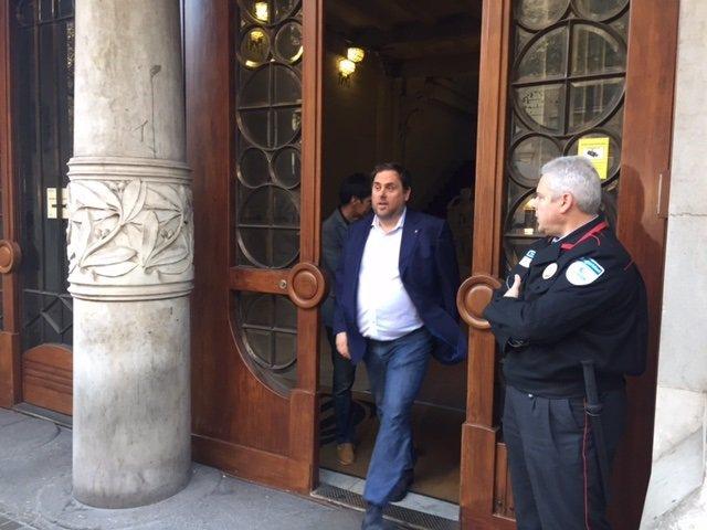 Oriol Junqueras en octubre de 2017