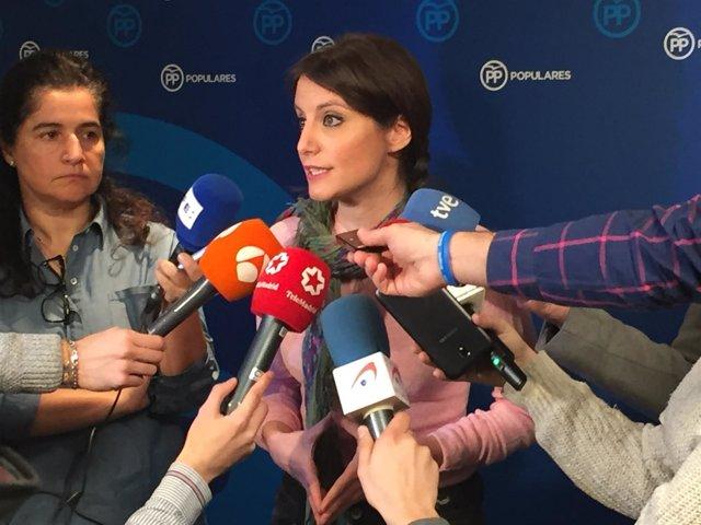 Declaraciones de la vicesecretaria de Estudios y Programas del PP, Andrea Levy