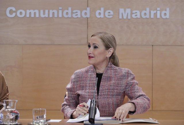 Cifuentes Preside La Reunión Del Consejo De Gobierno  La Presidenta De La Comuni