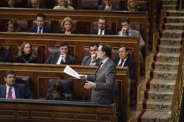 Rajoy interviene en la sesión de control al Gobierno en el Congreso