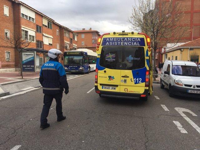 Intervención de agentes de la Policía en la calle Embajadores 20-3-2018