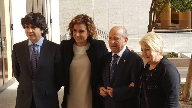Mario Garcés, Dolors Monserrat, Luis Martín Pindado y Carmen Balfagón