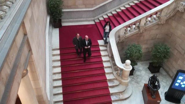 Jordi Turull y Eduard Pujol (JxCat)