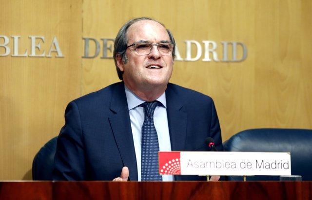 Ángel Gabilondo, portaveu del PSOE en l'Assemblea de Madrid