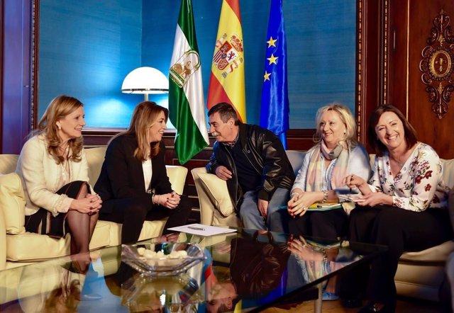 Susana Díaz recibe a la Federación de Asociaciones de Diabéticos de Andalucía