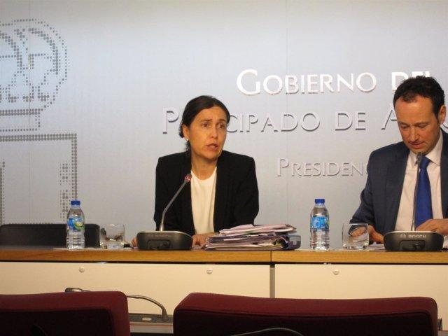 La consejera de Hacienda, Dolores Carcedo, en rueda de prensa