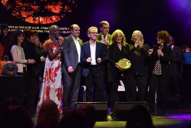 El equipo del programa Saber y Ganar de La 2 de TVE en 2018