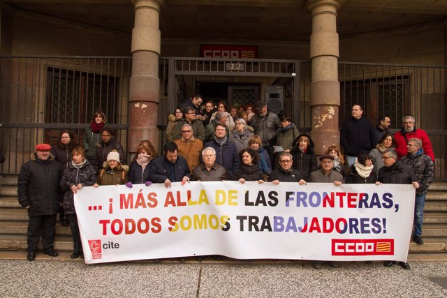 Concentración de CCOO Aragón en el Día contra el Racismo