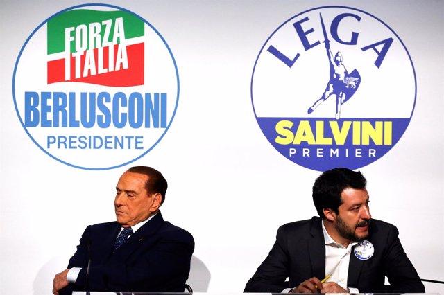 Silvio Berlusconi y Matteo Salvini